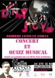 concert de Dinky Joys et quizz musical