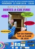 """INAUGURATION BOITES A CULTURE - Dans le cadre du projet """"Aux livres Citoyens"""