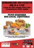 « PETIT DEJEUNER-BIO-LOCAL -EQUITABLE»