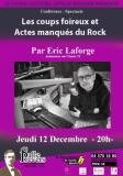 Les actes manqués dans le rock et la pop – Conférence d'Eric Laforge