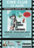 ciné club pour tout petits «Loups tendres et loufoques» + atelier enfant/adulte