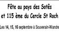 Fête au pays des Sotês et 115e du Cercle St Roch